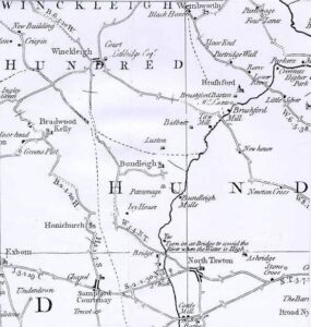Map - North Tawton One Hundred Winkleigh