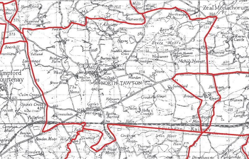 Maps - North Tawton Parish