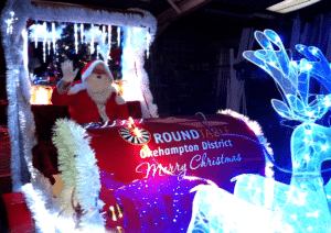 Santa Sleigh in North Tawton