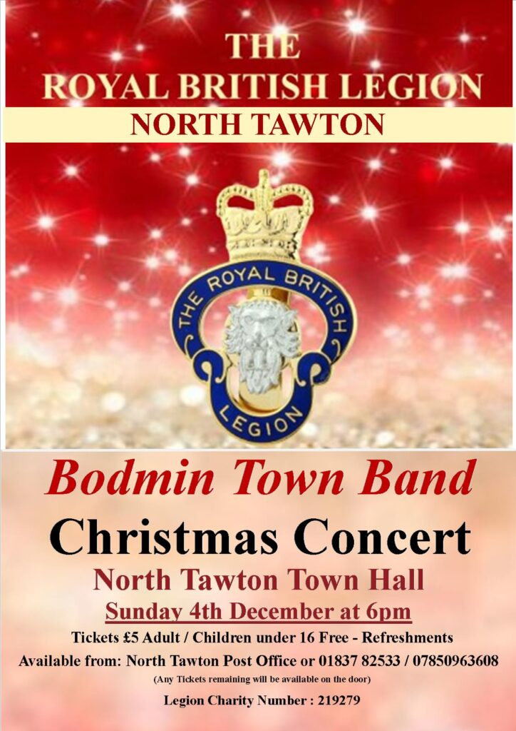 Bodmin Town Band Christmas Concert