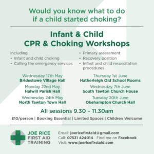 Infant Child CPR Choking Workshops