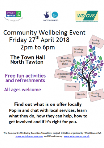 Community Wellbeing Event North Tawton Website