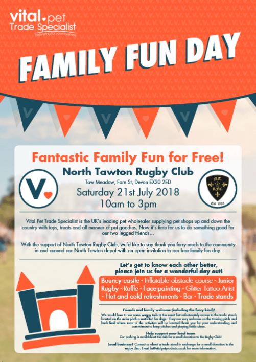 North Tawton Family Fun Day VITAL Rugby Club