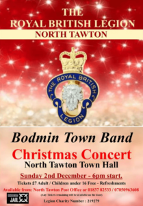 Bodmin Town Band Christmas Concert 2018