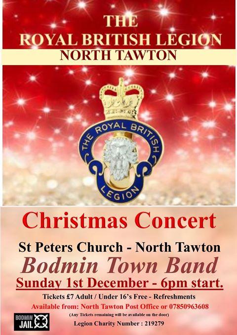 North Tawton Bodmin Town Band Christmas Concert