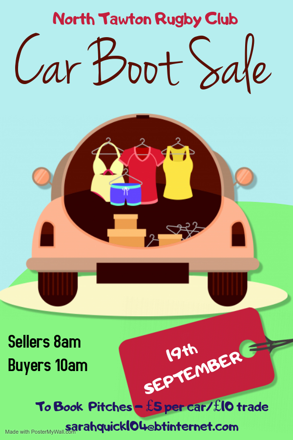 North Tawton Car Boot Sale Rugby Club