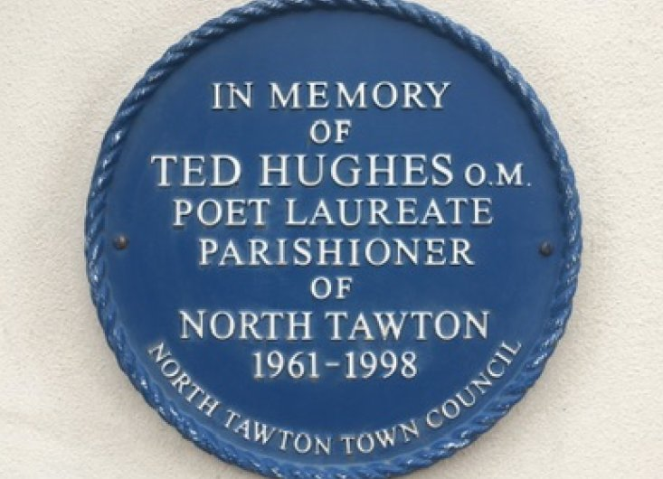 Ted Hughes Blue Plaque North Tawton